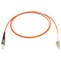Camplex MMXS62-ST-LC-001 OM1 62/125 Multimode Simplex ST to LC Armored Fiber Optic Patch Cable - Orange - 1-Meter
