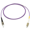 Camplex MMXSM4-ST-LC-001 OM4 50/125 10/40/100G Multimode Simplex ST to LC Armored Fiber Patch Cable - Purple -  1-Meter