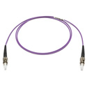 Camplex MMXSM4-ST-ST-001 OM4 50/125 10/40/100G Multimode Simplex ST to ST Armored Fiber Patch Cable - Purple -  1-Meter