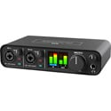 Motu M2 2x2 USB-C Audio Interface for Music Recording/Podcasting/Voiceover - XLR Combo Jacks/MIDI/Color LCD Metering