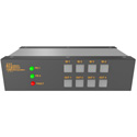 Matrix Switch MSC-FS44BFL 4 BNC Input 4 SFP Output 3G-SDI Mini Switcher w/ Button Panel - Fiber/SFP Modules not included