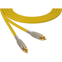 Sescom MSC1.5RRYW Audio Cable Mogami Neglex Quad RCA Male to RCA Male Yellow - 1.5 Foot