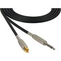 Sescom MSC1.5SR Audio Cable Mogami Neglex Quad 1/4 TS Mono Male to RCA Male Black - 1.5 Foot