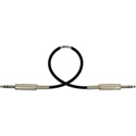 Photo of Sescom MSC1.5SZSZ Audio Cable Mogami Neglex Quad 1/4 TRS Balanced Male to 1/4 TRS Balanced Male Black - 1.5 Foot