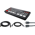 Blackmagic Design ATEM Mini Pro Live Production HDMI Switcher Kit with HDMI/USB/CAT5 Cables for Mac