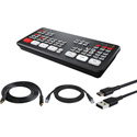 Blackmagic Design ATEM Mini Pro Live Production HDMI Switcher Kit with HDMI/USB/CAT5 Cables for PC
