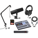 Shure SM7B Ultimate Frameworks Podcast Kit with ZOOM P8 PodTrak/Sennheiser HD 280 Pro Headphones