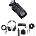 ZOOM H6 AB 6-Track Handy Digital Audio Recorder with ZOOM ZDM-1 Podcast Mic Pack