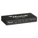 Muxlab 500421 2K/4K/UHD HDMI 1x4 Splitter