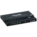 MuxLab 500437 4x1 HDMI Switcher with Audio Extraction 4K/60