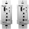 Muxlab 500451-WP-DEC HDMI Transmitter/Receiver Wall-Plate Extender Kit - HDBT - UHD-4K (Decora)