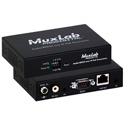 Muxlab 500755 Audio / RS232 over IP PoE Transceiver