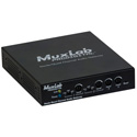 Muxlab 500765 Dante/Quad Channel Audio PoE Gateway