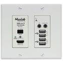 MuxLab 500777-RX-WH HDMI/USB over IP PoE WP Receiver -  UHD-4K  (White)