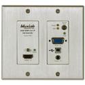 MuxLab 500777-TX-WH HDMI/VGA/USB over IP PoE Wall Plate Transmitter - UHD-4K - White