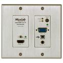 MuxLab 500777-TX HDMI/VGA/USB over IP PoE Wall Plate Transmitter
