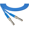 Photo of Laird MVP-MVP-BE24 Canare L-4CFB Mid-Size Mini-WECO Equivalent Video Patch Plug Male to Male Patch Cable - 2 Foot Blue