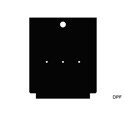 Mystery DPF TC Series Panel - Blank insert with 3 Each pilot holes