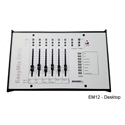 Mystery EM12 Desktop DSP Control Surface - 6 Physical (12 Virtual) Motorized Faders Includes Customized Overlay