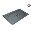 Mystery FMCA2400 Floor Box Satin Black Self-trimming Cable Door