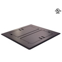 Mystery FMCA3000 Self Trimming Satin Black Floor Box with Cable Slots