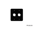 Mystery FP-2G-2-B 2-Gang Black Wall Panel 2 Each Neutrik D