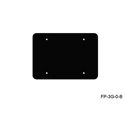Mystery FP-3G-0-B 3-Gang Black Wall Panel Blank