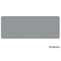 Mystery FP-6G-0-S 6-Gang Blank Stainless Wall Panel