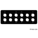 Mystery FP-6G-12-B 6-Gang Black Wall Panel for 12 Each Neutrik D
