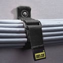 Seam T N-07-G10-BK One Inch Wide CinchStrap with End Grommet - Black - 10 Pk