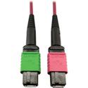 Tripp Lite N846D-03M-16BMG MMF Fiber Optic Cable 400G OM4 MTP/MPO-APC to MTP/MPO-UPC F/F - 3 Meter