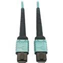 Tripp Lite N846D-03M-24AAQ MMF Fiber Optic Cable OM4 Plenum 400G 50 24F MTP/MPO-PC F/F - 3 Meter