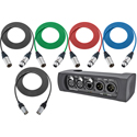 NA2-IODLINE-PLUS Neutrik NA2-IO-DLINE DANTE Audio Interface with Pro Cable Pack