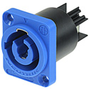 Neutrik NAC3MPA-1 powerCON Chassis Mount Receptacle Power In - Blue