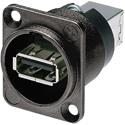 Photo of Neutrik NAUSB-W-B Reversible USB Genderchanger (Type A and B) - Black D-Housing