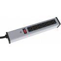 UPS Heavy Duty Aluminum 6 Outlet Strip for Commercial/Industrial use 15 foot/15 Max Amps