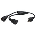 OutletSaver AC Power Splitter Adapter 16 Inches - 4 Pack