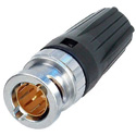 Neutrik NBNC75BDD6 Rear Twist True 75 Ohm Male BNC Crimp Connector For Belden 1855A Mini Coax -  w/ 1 Blk rearTWIST Boot