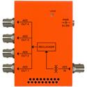 Multidyne NBX-DA-1X4-AESU AES / EBU 1x4 Reclocking Distribution Amplifier - 75 Ohm Unbalanced