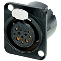 Neutrik NC10FD-LX-B DLX Series 10-Pin Receptacle - Female - Solder - Black/Gold