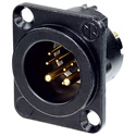 Neutrik NC10MD-LX-B DLX Series 10-Pin Receptacle - Male - Solder - Black/Gold
