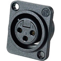 Neutrik NC3FPP 3-Pin XLR Female Panel/Chassis Mount Connector - Latchless - Plastic
