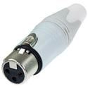 Neutrik NC3FXX-WT 3 Pole Female Cable Connector - White/Silver