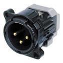 Neutrik NC3MBY-B B Series IDC 24-26 WGA Range Black 3 Pin Male XLR Connector