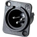 Neutrik NC3MPP 3-Pin XLR Male Panel/Chassis Mount Connector - Plastic Housing