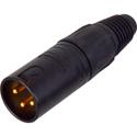 Neutrik NC3MX-B-D 3-Pin Male XLR Connector Cable End - Black & Gold - 100 Pack