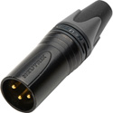 Neutrik NC3MXX-BAG 3 Pin Male XLR Connector - Black/Silver