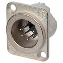 Neutrik NC5MD-LX 5-Pin XLR Male Panel/Chassis Mount Connector - Duplex Ground - Nickel/Silver