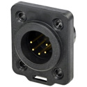 Neutrik NC5MDX-TOP Receptacle TOP Series 5-pin Male Chassis Connector - Solder - Nickel/Gold - IP65 and UV Rated