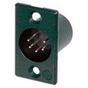 Neutrik NC5MP-BAG 5-Pin XLR Male Panel Mount Connector - Black/Silver